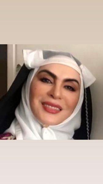 افسانه بایگان با گریم قاجاری + عکس