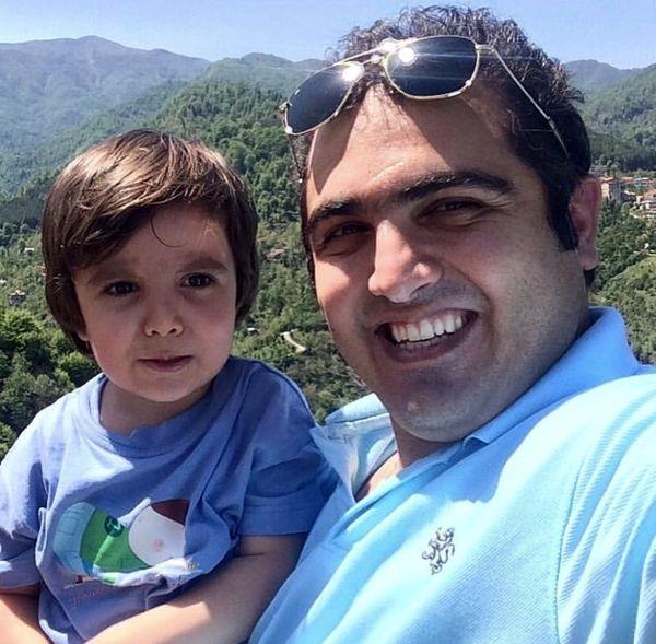 سعید کریمی و پسرش + عکس
