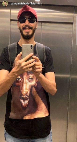 آقا بهتاش در آسانسور + عکس