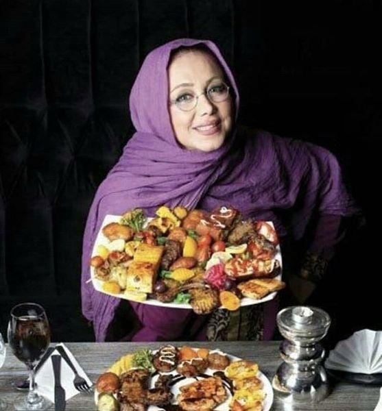 سینی غذای زیبای بهنوش بختیاری + عکس