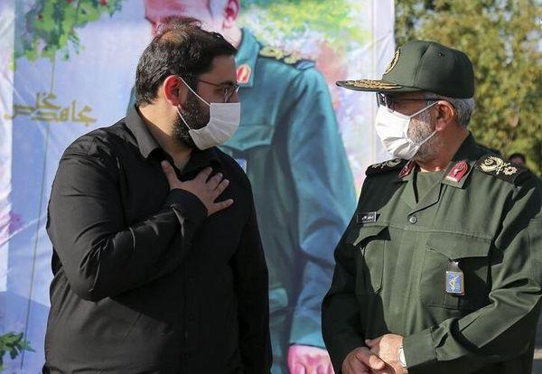 فرزند سردار حجازی در مراسم چهلم شهادت پدر+ عکس