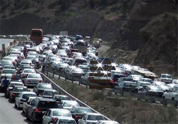 ترافیکی سنگین در مسیر بازگشت زائران اربعین