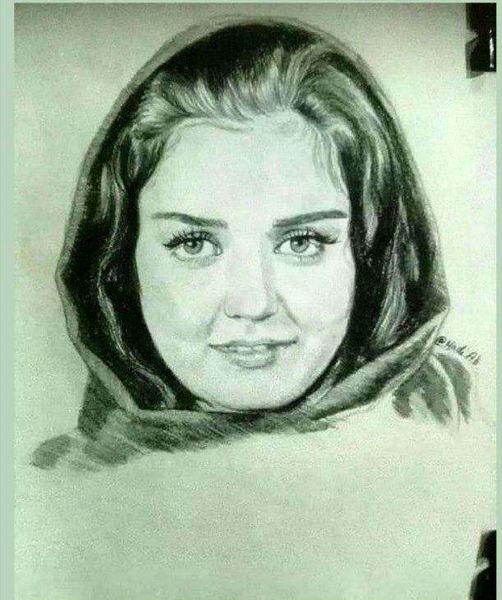 طراحی هنرمندانه چهره افسانه پاکرو+عکس
