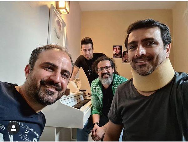 گردن آسیب دیده بازیگر مشهور + عکس