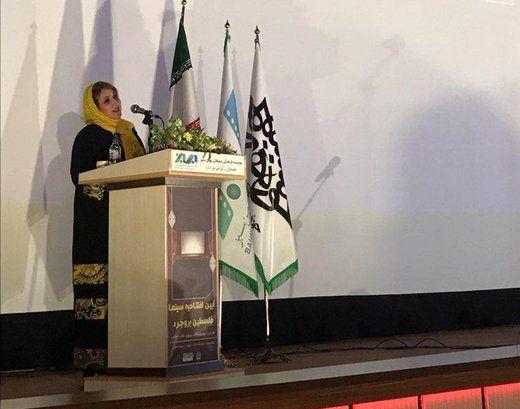 سخنان فاطمه گودرزی در افتتاحیه یک سینما در زادگاهش