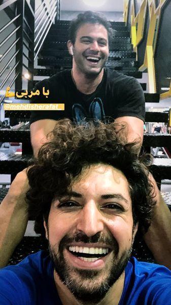 اشکان خطیبی ورزشکار در باشگاه+عکس