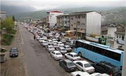 ترافیک پرحجم در برخی جاده های کشور