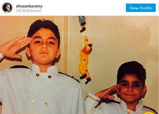 کودکی بامزه آقای مجری ممنوع التصویر+عکس