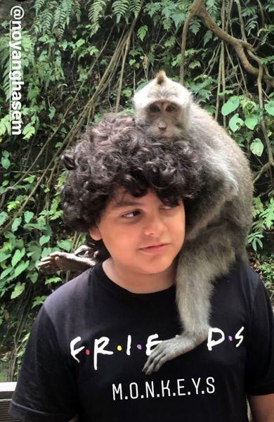 حیوان متفاوت پسر شقایق دهقان + عکس