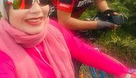 تفریح ورزشکاری صبا راد و همسرش در روز تعطیل+عکس