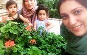 فلامک جنیدی و خواهر دوقلویش در کنار فرزندان دوقلویش!
