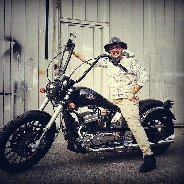 مهران رنجبر با موتور سیکلت خفن + عکس