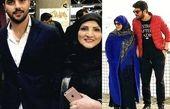 سینا مهراد و مادرش در فرودگاه + عکس