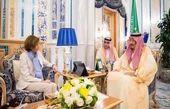 وزیر دفاع فرانسه با پادشاه عربستان دیدار کرد