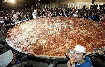 بزرگترین پیتزا دنیا