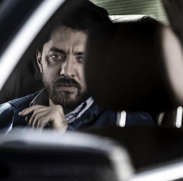 بهرام رادان در ماشین + عکس