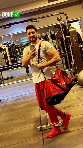 فرزاد فرزین در باشگاه + عکس