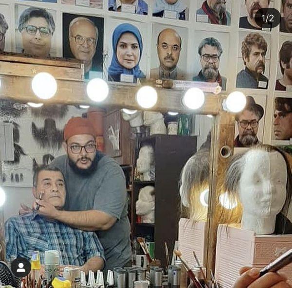 بازیگر سریال مجید دلبندم در اتاق گریم + عکس