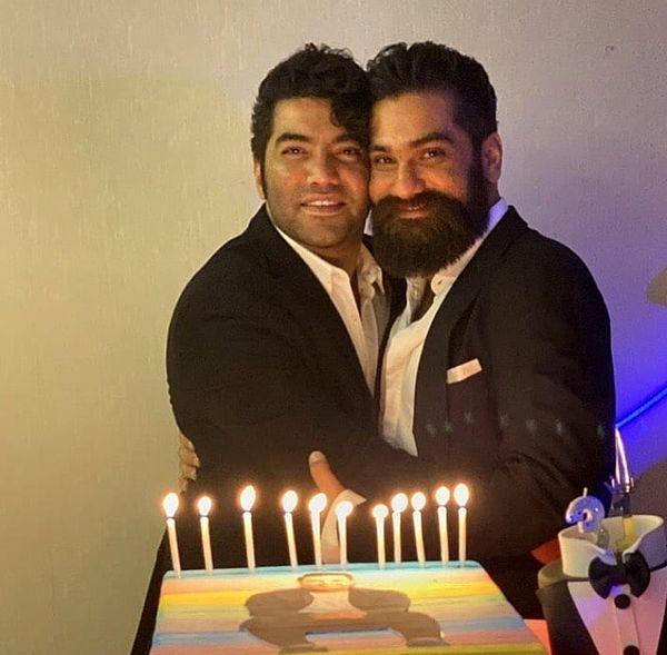 علی زند وکیلی در یک مراسم تولد + عکس