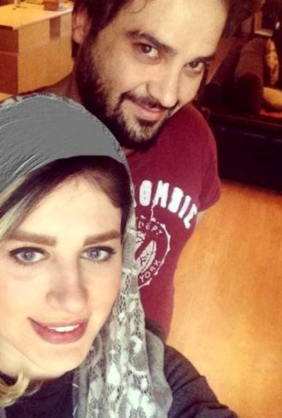 بازیگر ستایش و همسرش+عکس
