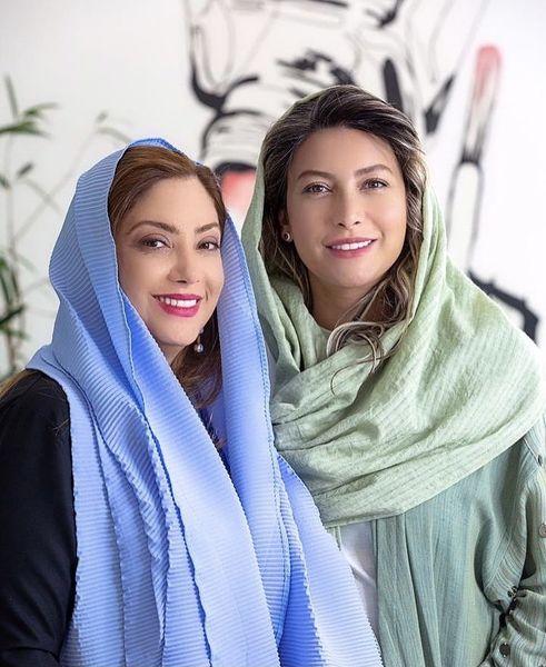 دوستی صمیمانه فریبا نادری با بازیگر مشهور + عس