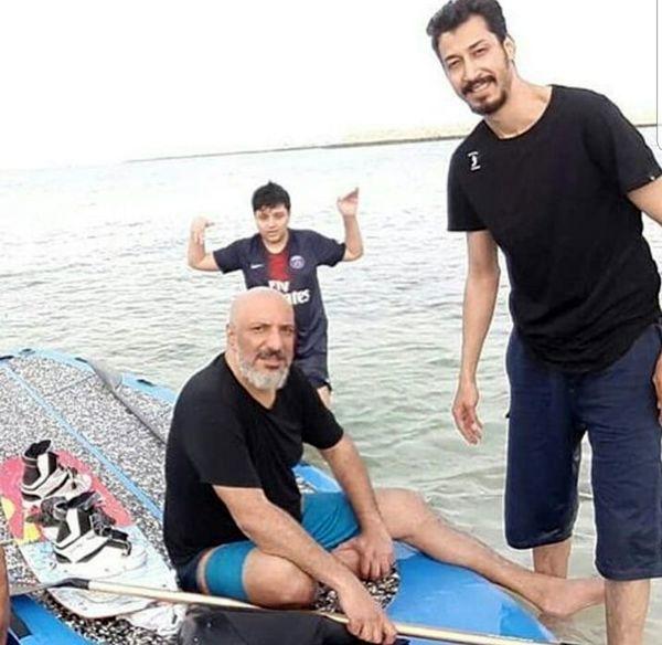 امیر جعفری و پسر خوش قامت پایتخت لب دریا + عکس