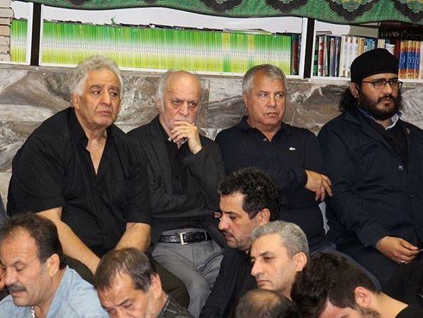 علی پروین و وداع با محرم+عکس