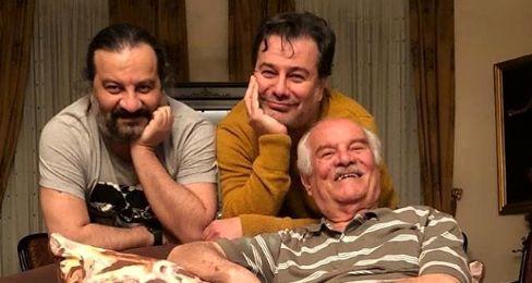 برادران قاسم خانی در کنار پدرشون + عکس
