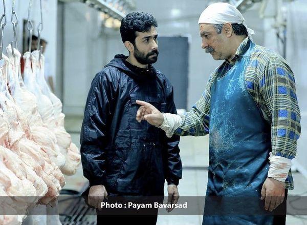 حسین مهری در تدفین + عکس