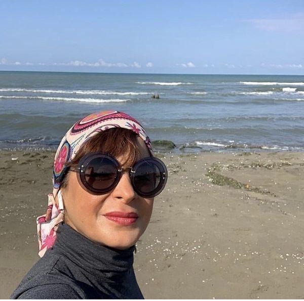 سیما تیرانداز در کنار دریا + عکس