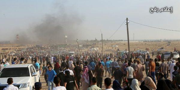 شهادت ۲ فلسطینی در بمباران شرق خانیونس