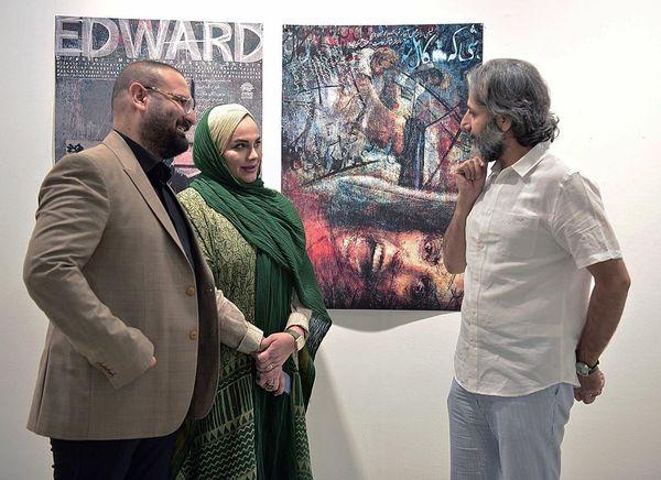 کارگردان پرآوازه ایرانی و همسرش در یک گالری + عکس
