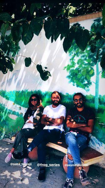 نیمکت نشینی صابر ابر و دوستانش + عکس