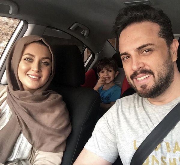 پدرام کریمی و خانواده اش در ماشین + عکس