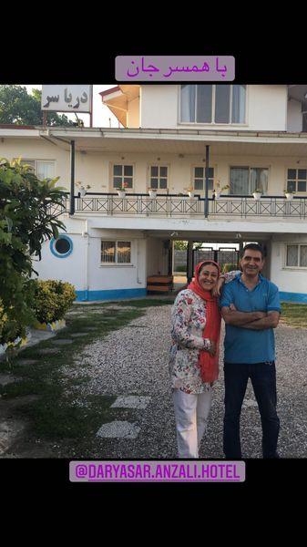 خانم بازیگر در کنار همسرش + عکس