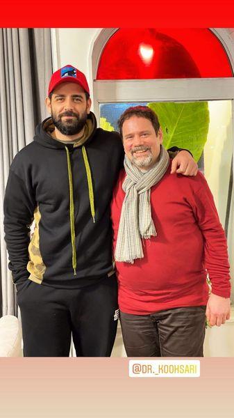 امیرحسین آرمان در کنار دوستش + عکس