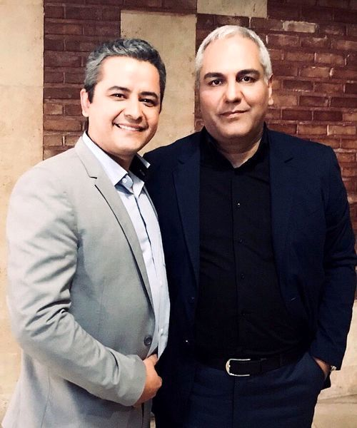 مهران مدیرری و مجری خوش صدا + عکس