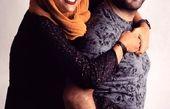 عکس متفاوتی از حدیثه تهرانی و همسرش