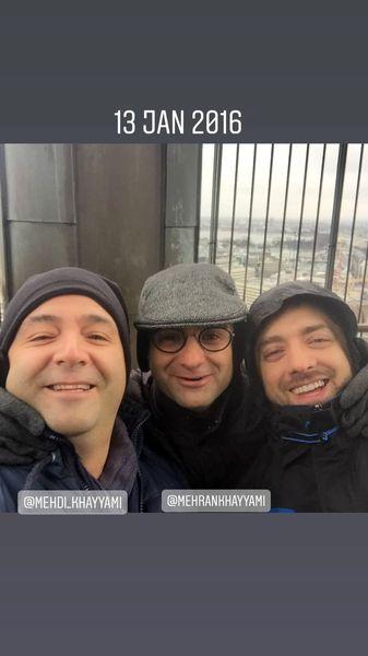 خاطره بازی بهرام رادان با دوستانش + عکس