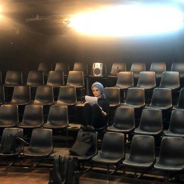 تمرین تئاتر متفاوت لیندا کیانی+عکس
