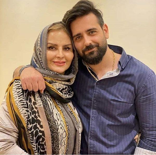 امیرحسین آرمان و مادرش+ عکس