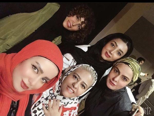 رابعه اسکویی و دوستانش + عکس