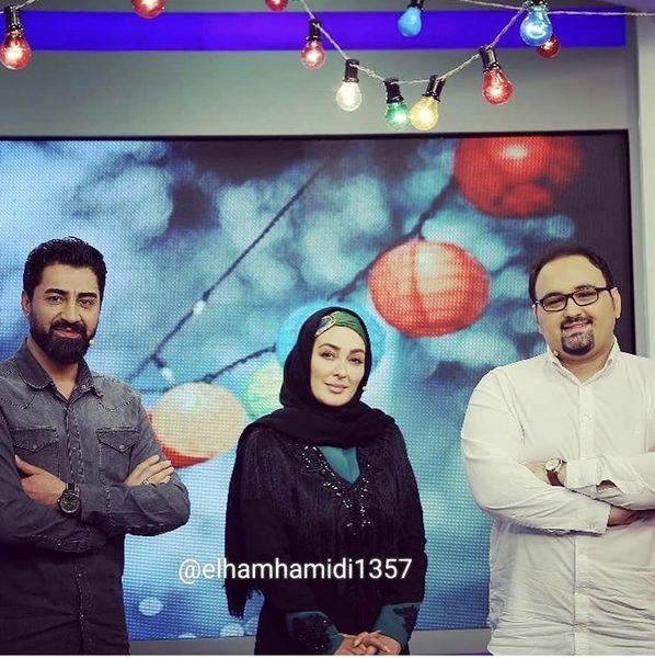 حضور الهام حمیدی در یک برنامه تلویزیونی + عکس