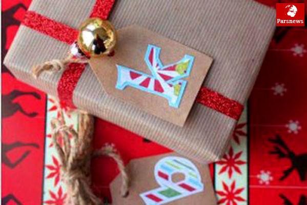 ایده ای زیبا برای تزئین هدایای تان