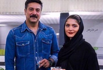 حمیدرضا پگاه و همسرش+عکس