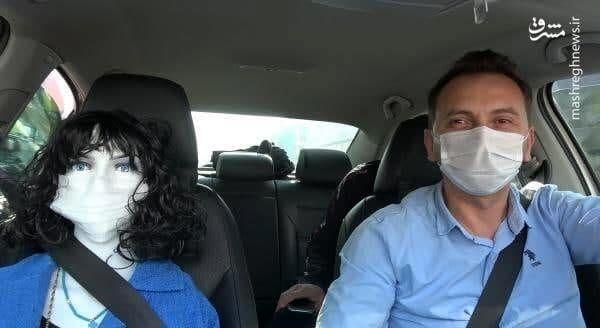 ایده جالب یک راننده تاکسی برای مقابله با کرونا+ عکس