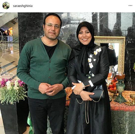 ظاهر مهمونی طوری خانم مجری و همسرش + عکس
