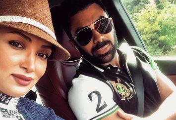روناک یونسی و همسرش در خارج از کشور در ماشین لوکس+عکس