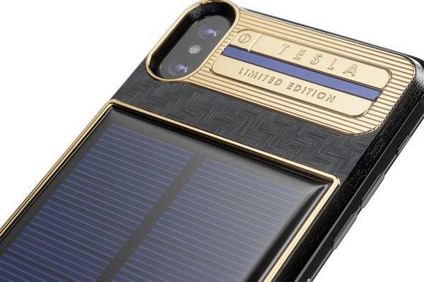 تلفن همراه4500 دلاری با شارژر خورشیدی