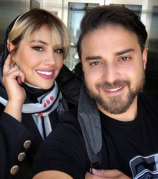 سلفی جدید بابک جهانبخش و همسرش + عکس